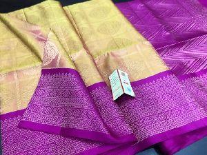 Bridal Kancheepuram Silks Presenting A Beautiful Handloom Kanchipuram Silk Saree