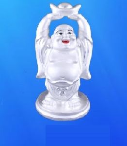 999 Sterling Silver Laughing Buddha Statue