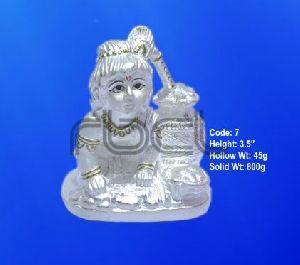 7 Sterling Silver Makhan Chor Statue