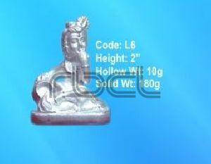 L6 Sterling Silver Makhan Chor Statue
