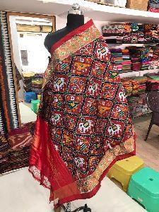 Ikkat Silk Dupatta
