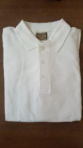 Mens White Polo T-Shirt