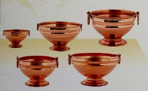 Copper Ghangal with Copper Handle