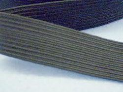 Grey Braided Elastic Tape