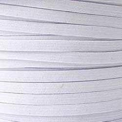 White Braided Elastic Tape