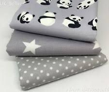 Printed Cotton Grey Fabric