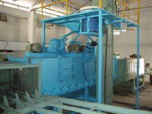 conveyer type shot blasting machine