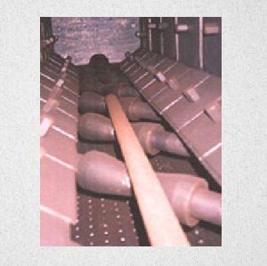 external shot blasting machine for pipe and round bar