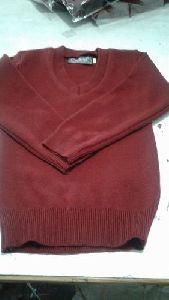 Men Pullover Maroon Sweater