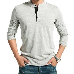 Mens Henley Neck T-Shirt