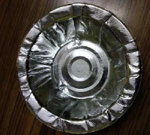 Disposable Silver Laminated Party Paper Bowl Dona Set of 100 Pcs Light Weight