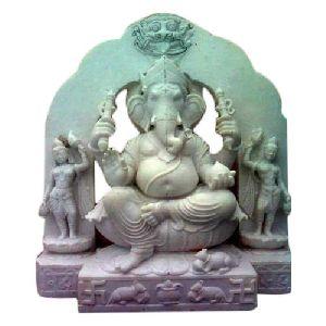 18 Inch Marble Ganesh Statue
