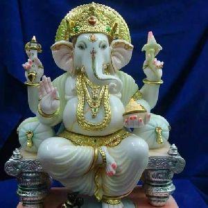 Printed Marble Ganesh Statue