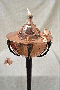 copper garden tikki torch