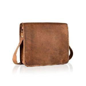 Full Flap Leather Messenger Bag