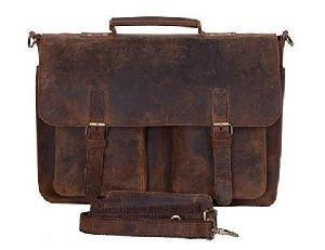 Laptop Leather Messenger Bag