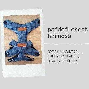 PoochMate Blue Checkered Dog Harness