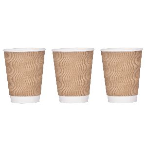 8 oz ripple paper cups