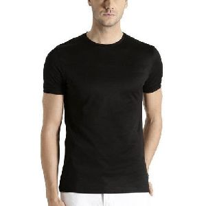 Mens Polyester Plain T-Shirt