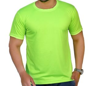 Mens Polyester Round Neck T-Shirt