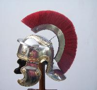 #h15 Roman Helmet With Red Crest
