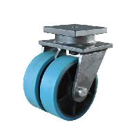 steel fixed swelling casters