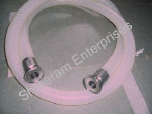 Nylon Braided Silicon Food Grade Hose Pipe With Tc End Connections