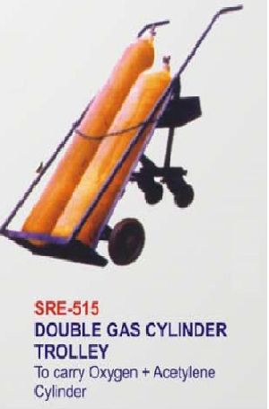 Sre-515 Double Gas Cylinder Trolley (4 Wheeler)