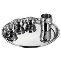 Stainless Steel Double Wall Thali Set