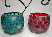 Mosaic Glass Votive
