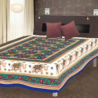 Elephant Printed Traditional Single Bed Sheet