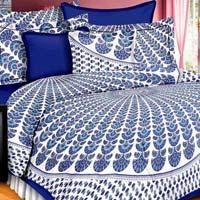 Jaipuri Print Double Cotton Bedsheets