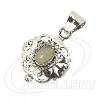 925 Gemstone Pendant In Silver