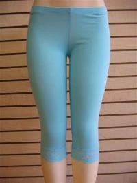 Lycra Half Length Plain Leggings