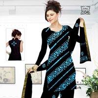 Unstitched Pure Cotton Batik Salwar Suit