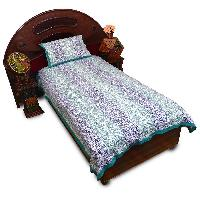 Bagru Print Pure Cotton Single Bed Sheet Pillow Set 414