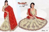 Embroidered Bandhani Sarees