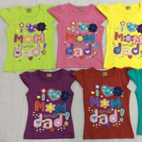 Baby Mom And Dad Style Round Neck T-shirts