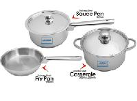 United Ucook Lifetime Stainless Steel Cookware Combo Set With Lid