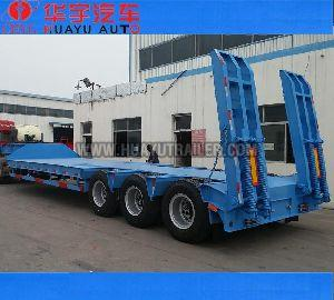 3 Axle low bed semi trailer