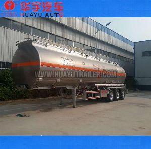 Aluminum fuel tanker semi trailer