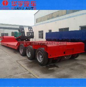 150ton 3 lines 6 axle low bed  semi trailer