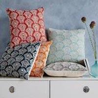 Crewel Deco Shells Pillow Cover