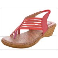 Elastic Medium Heels Ladies Sandals
