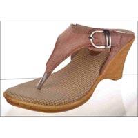 V Shape Belt Heels Ladies Slippers