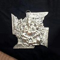 White Metal Ganesh Wall Hanging