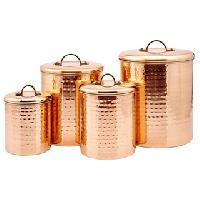 Old Dutch Hammered Copper Canister Set