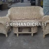 Wooden Cane Sofa Set
