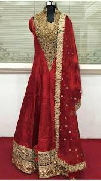 Silk Embroidered Anarkali Suits