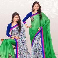 RekhaManiyar Fashions Designer Reversable Sari 8534